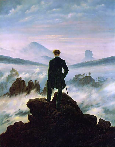 Wanderer above the Sea of Fog -Caspar David Friedrich, 1818